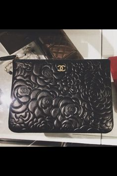 Floral black leather Chanel is life