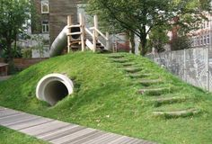tunnels through earth mounds - Google Search