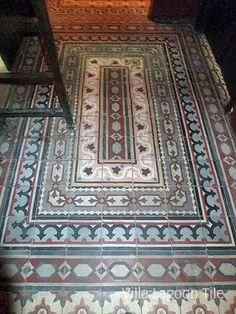 Egyptian cement tile rug from villalagoontile.com