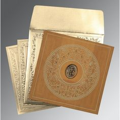 Give your wedding a special feel with our exclusive Yellow, Wooly, Islamic Wedding Cards - I-8214A
