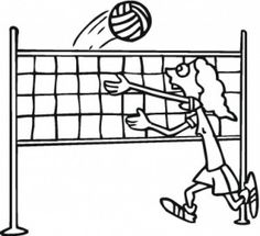 Volleyball Set Coloring Pages Sports Coloring Pages, Coloring Pages To Print, Free Coloring, Coloring Pages For Kids, Chicken Noodle Recipes, Lemon Chicken Orzo Soup, Volleyball Set, Spring Roll Bowls, Veggie Burrito