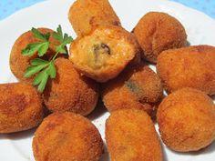 Croquetas de mejillones con thermomix, croquetas con thermomix, Food Festival, Finger Foods, Sweet Potato, Muffin, Potatoes, Vegetables, Breakfast, Recipes, Blog