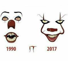 Tim Curry's Pennywise introduced the clown horror to the whole world and Bill Skarsgård made us all proud. Tim Curry Pennywise, Pennywise The Dancing Clown, Arte Horror, Horror Art, Horror Movie Characters, Horror Movies, Bill Skarsgard Pennywise, Scary Drawings, Es Der Clown