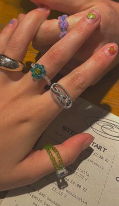 Nail Jewelry, Cute Jewelry, Jewelry Rings, Jewelry Accessories, Jewlery, Nail Ring, Bling, Accesorios Casual, Hippie Jewelry