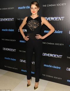 Pure elegance: Shailene Woodley glammed it up at a screening of her new film, Divergent, in New York City on Thursday
