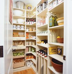 ultimate spacious kitchen pantry.. and when i say spacious.. i mean it's totally bigger than my one square foot i got now