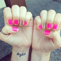 Pretty in pink nails :)