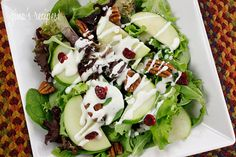 Add grilled chicken and it'd make a yummy dinner. Honey Goat Cheese Dressing | Skinnytaste