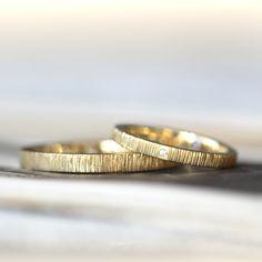 ゴールドでおつくりした結婚指輪(オーダーメイド/手作り)   [マリッジリング,marriage,wedding,ring,gold,ダイヤモンド,diamond,K18]