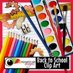 This set of free Back to School Clip Art contains 25 individual clip art images… Classroom Crafts, Classroom Fun, Art School, Back To School, Free School Supplies, School Clipart, Digital Scrapbooking, Digital Papers, Art Images