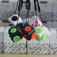 Fidget Cube Desk Toy Stress Anxiety Relief Focus Puzzle Adult Children 6 Side #Unbranded