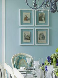 Dinning Room - Blue Tiffany's walls
