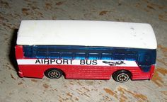 Vintage Toys Airport Bus Red White & Blue by TheBackShak on Etsy