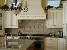 Traditional renovated kitchen hood