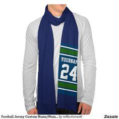 Football Jersey Custom Name/Number Scarf Wrap #12thman #seattle #seahawks #football