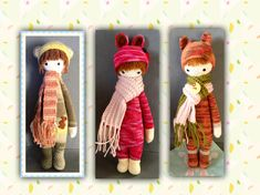 cute doll modifications made by Martina N. based on a lalylala crochet pattern