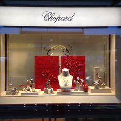 Valentine's day window display, Chopard, Geneva