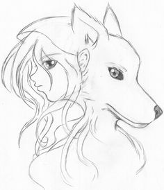 Pin Anime Wolf Drawings In Pencil Easy on Pinterest