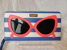 NWT Kate Spade Sunglasses Multi-Color Make a Splash Neda Wallet WLRU2435 #katespade