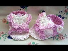 Crochet Baby Sandals - This Lovely Life - YouTube