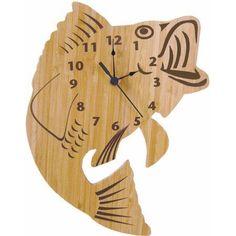 Trend Lab Bamboo Fish Wall Clock, Beige