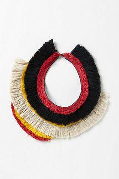 Jiwaka Fringe Collar #anthropologie