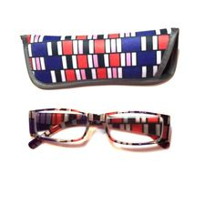 1.50 Reading Glasses Geometric Design With Case