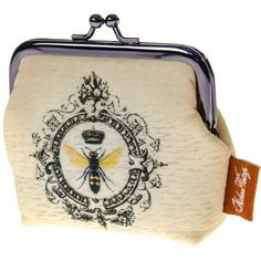 Modern Vintage Bee Coin Purse