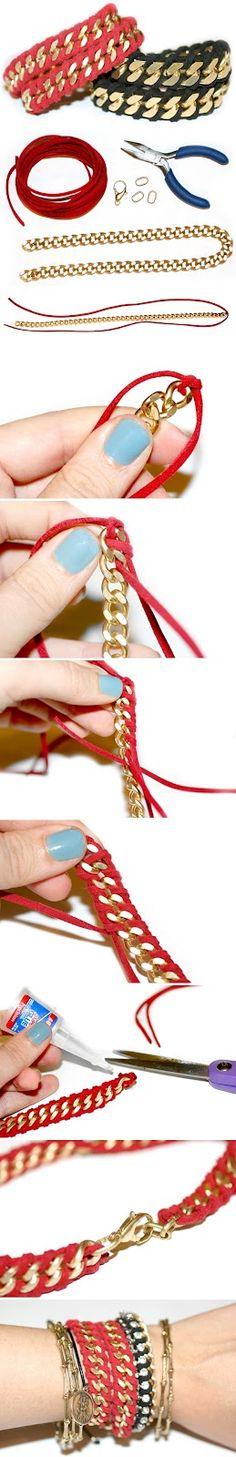 Como hacerse una pulserita de moda!!!