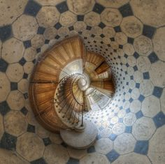 Spiral stairway - Stairs Toward Wonderland. photography by Vincent Montibus, Paris