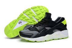 huge selection of 023f2 47b6a Men Nike Air Huarache Premium Triple Shoes Black Fluorescent Green Nike Air  Huarache - Nike official website Up to discount