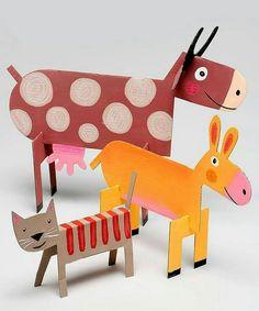 cardboard crafts for kids unique cardboard animals diy handmade toys of cardboard crafts for kids Farm Animal Crafts, Animal Crafts For Kids, Farm Animals, Diy For Kids, Kids Crafts, Diy And Crafts, Arts And Crafts, Jungle Animals, Cardboard Animals
