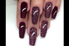 Galaxy polish, so pretty, coffin nails