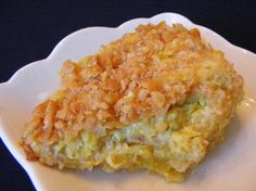 Cheesy Squash Casserole With Ritz Crackers