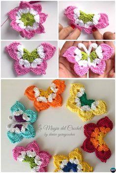 La Magia #Crochet Butterfly Free Pattern #crochet