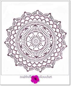 Mandala crochet patron                                                                                                                            Más
