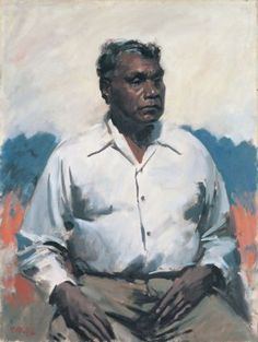 Sir William Dargie (Australia 1912 – 2003) painted this portrait of Albert Namatjira, Australia's best known Aboriginal painter, and won the Archibald Prize with it in 1956.|