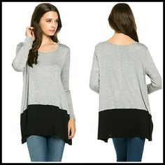Grey and Black Tunic  Size S,L Great essential Tunic in Grey and black  Material is rayon and spandex Boutique quality  Sizes available S & L Boutique  Tops Tunics