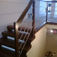 schody drewniane - Szukaj w Google Stair Railing, Stairs, Balcony, German, Diy Projects, Google, Design, Home Decor, Indoor Stair Railing