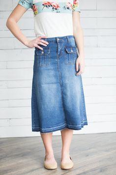 fc2a4c5283a8 45 best Modest denim skirts images in 2019 | Modest denim skirts ...