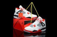 wholesale dealer 644bf c4f43 Homme Nike Air Jordan 4 Retro Limited Edition Blanc Noir Rouge Gris  J58o   Jordan