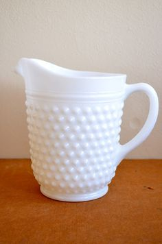 pretty milk glass pitcher