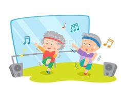사람, 남성, 여자, 여성, 라이프, 운동, 음악, 남자, 노년, 할아버지, 뮤직, 생활, 스포츠, 일러스트, 노래, freegine…