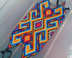 Beaded Crochet Bags – New Cheap Bags Native Beading Patterns, Beadwork Designs, Bead Loom Patterns, Jewelry Patterns, Bandeau Large, Lighter Case, Types Of Hats, Native American Beadwork, Friendship Bracelet Patterns