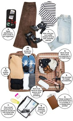 How to pack your bag like a pro, with tips straight from organization wizard Tidy Tova.
