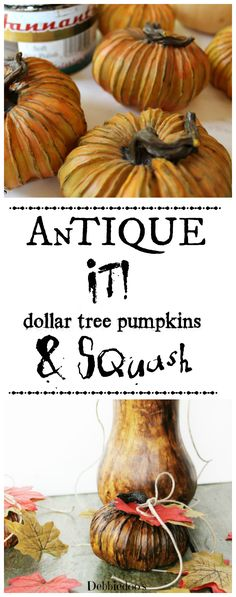 How to antique your decor. #Dollartree pumpkins