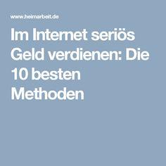 Im Internet seriös Geld verdienen: Die 10 besten Methoden