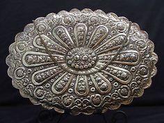 Sterling Silver Repousse Vanity/Dreser Mirror in Antiques, Silver, Sterling Silver (.925), Brushes & Grooming Sets | eBay