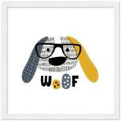 Man's best friend | Poster with optional frames - 30x30 cm / 12x12″ / White wood frame