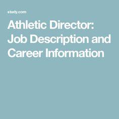 Athletic Director: Job Description and Career Information